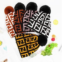 """FENDI"" Winter Popular Women Men Cute Knit Hat Warm Woolen Cap"