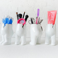 Tushiez - Bath Buttz - 5 INCH size - Bathroom Organize - Black or White - Glossy or Matte Finish - Accessories Not Included