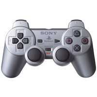 Official Sony Satin Silver PS2 DualShock2 Playstation 2 Controller SCPH-10010
