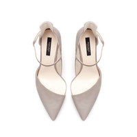 ASYMMETRIC SUEDE LEATHER HIGH HEEL COURT SHOE - Shoes - Woman | ZARA United States