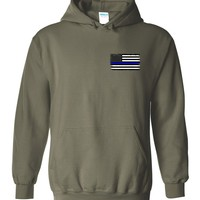 Thin Blue Line Hoodie (2-Sided Design)