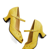Vintage Inspired Dance of Your Dreams Heel in Buttercup