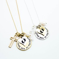I hold you in my heart necklace