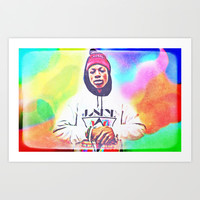 Joey Bada$$ Art Print by Ellie B. Noels
