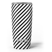 Slate Black Slanted Bold Stripes - Skin Decal Vinyl Wrap Kit compatible with the Yeti Rambler Cooler Tumbler Cups