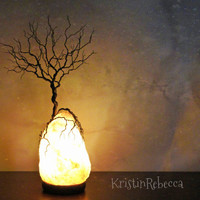 Wire Tree of Life Twisted Tree Sculpture Himalayan Salt Lamp Tree Lamp