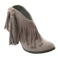 Autumn Winter Ankle Boots High Heel Fringe Boot Women Fashion Gladiator Tassel Shoes Botas De Inverno = 1946015748