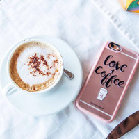 Simple iPhone 6s & 6s Plus Case (Love and Coffee Pattern) by Casetify