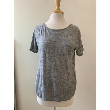 Frame Grey Linen T Shirt
