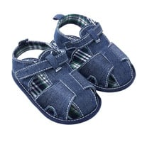 New Blue Jean Baby Girl Boy Sandals Shoes Toddler First Walkers Shoes  TIML66