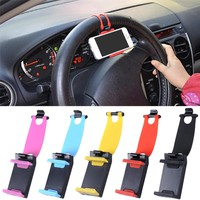 Car Phone Holder Car Steering Wheel Holder Bike Clip Mount Mobile Phone Stand GPS Accessories For iPhone/Samsung Galaxy/Xiaomi