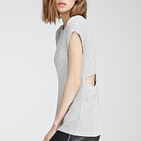 Heathered Cutout Crossback Top