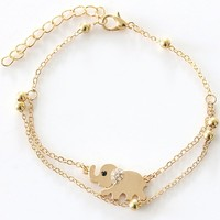 Tomtosh Sexy Sandalias Beach Rhinestone Elephant From India Barefoot Chain Ankle Bracelet Foot Jewelry Anklets For Women