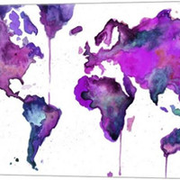 Watercolor Map No. 8 Canvas Wall Art Print by Jessica Durrant