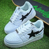 LMFNW6 Bape Sta Sneakers White Black Shoes-1