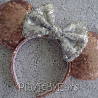 """Rose Gold Diamond Super Sparkle """"Starlight Collection"""" Handmade Custom Mouse Ears inspired by Disney"""