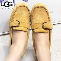 UGG Fashion New Solid Color Lazy Leisure Shoes Women