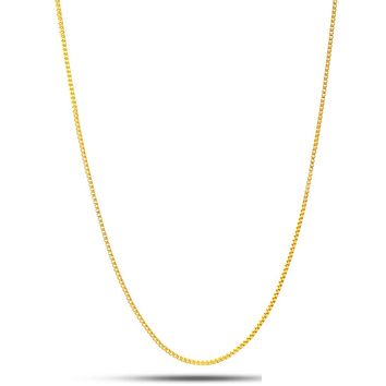 1MM .925 Sterling Silver 14K Gold Box Chain