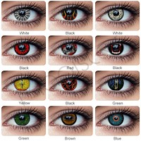 1Pair Halloween Cosplay Contact Lenses for Eyes Contacts With Color Lenses Eye Contacts Halloween Contact Lenses Color for Eyes