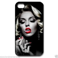 Marilyn Monroe Sexy Smoking case For NEW Black iPhone 5 5s 5S 5c 4s 4 SALE