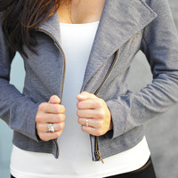 She Means Business Jacket: Grey | Hope's