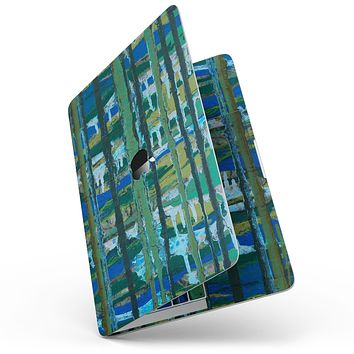 """Abstract Green Plaid Paint Wall - 13"""" MacBook Pro without Touch Bar Skin Kit"""