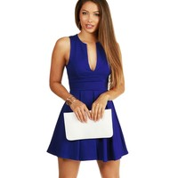 Royal Flirt Alert Skater Dress