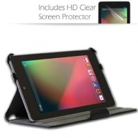 Blurex Ultra-Slim Case for Google Nexus 7 inch Tablet -- With built in Multi-Angle Stand + Premium Screen Protector Film (Clear),black