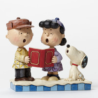 Jim Shore Charlie Brown, Lucy and Snoopy Caroling-4045883