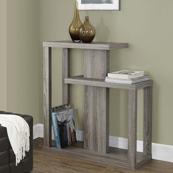 """Dark Taupe Reclaimed-Look 32""""L Hall Console Accent Table"""