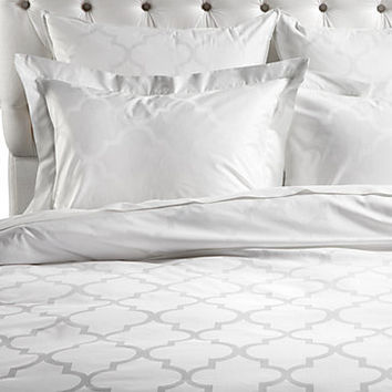 Z Gallerie - Mimosa Bedding - White Jacquard