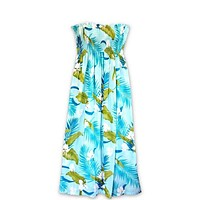 Ginger Breeze Aqua Maxi Hawaiian Dress