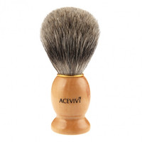 New 1pc Wooden Synthetic Hair Short Beard Shaving Brush 10cm