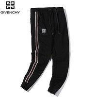 Givenchy New fashion embroidery letter couple pants Black