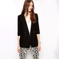 Women Business Casual Suit Outerwear Jacket a13231