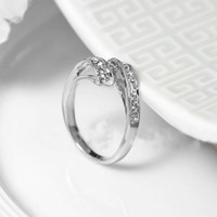 Yoursfs Roma Ring 18K White Gold Plated Use Shinning Crystal