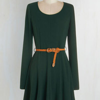 Mid-length Long Sleeve A-line Any and Every Occasion Dress by ModCloth