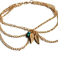 """Pocahontas"" Gold Arm Chain"