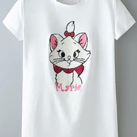 Animal Embroidered Shirt in White