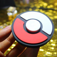 2017 Cartoon hand spinner pokeball Focus Toy poke mon Kids Wizard Ball Hand Spinner Stress Reliever Fidget Spinners