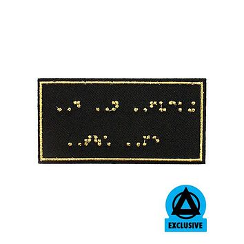 Toast Designs - Do Not Fucking Touch Me Braille Patch