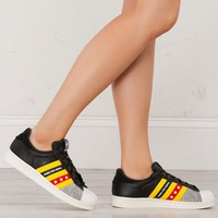 Adidas Superstar Ro in Black Yellow White