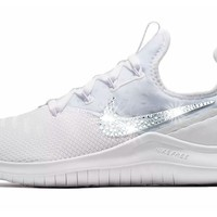 Nike Free TR 8 + Crystals - White