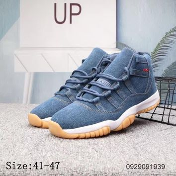 """Air Jordan 11"" Men Casual Fashion High Help Basketball Shoes Couple Sneakers"