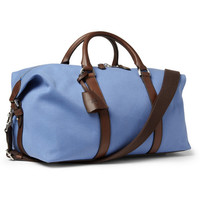 Mulberry Small Clipper Leather-Trimmed Canvas Holdall Bag | MR PORTER