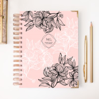 2018 Classic Planner – Black & Pink
