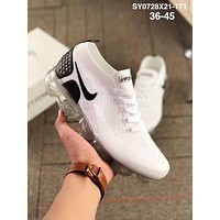Nike Air Vapormax Flyknit 2.0 Fashion Classic Women Men Air Cushion Running Sport Shoes Sneakers White I-AA-SDDSL-KHZHXMKH