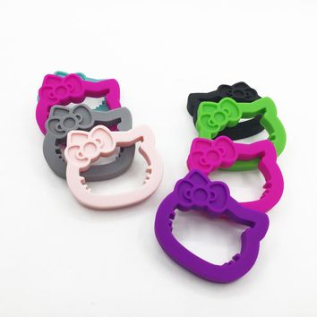 Silicone Teething Pendant Necklace - Safe for babies to chew, suck and love on - hello kitty teether silicone baby teether