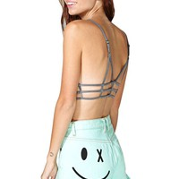 Bitching and Junk Food Wink Shorts - Mint