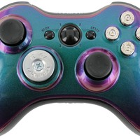 """""""Enigma Bullet"""" Xbox 360 Custom Modded Controller with a Silver Shotgun D-Pad + Bullet Buttons Exclusively by Gimika"""